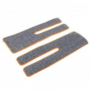 Набор насадок для плоской швабры с отжимом, 38?12 см, микрофибра, 2 шт, цвет МИКС
