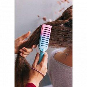 Расчёска массажная, цвет голубой/розовый