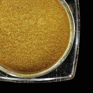Втирка «Зеркальный блеск» для декора, с аппликатором, цвет золотистый