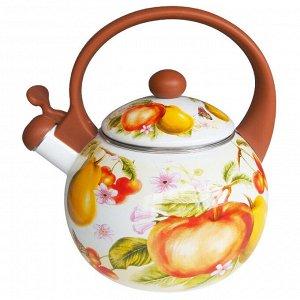 """Чайник 2,5 л со свистком ЕМ-25001/37A """"Фруктовый сад"""""""