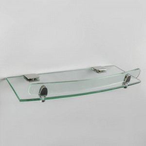 Полка для ванной комнаты, 42?12,6?4 см, металл, стекло