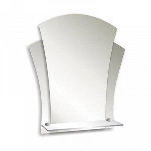 Зеркало «Лотос», настенное, с полочкой, 48?55 см