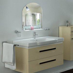"""Зеркало в ванную комнату 70?50 см """"Ассоona A611"""", 1 полка"""