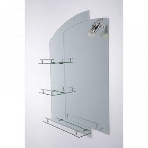 Зеркало в ванную комнату, двухслойное 80?60 см Ассоona A613, 3 полки
