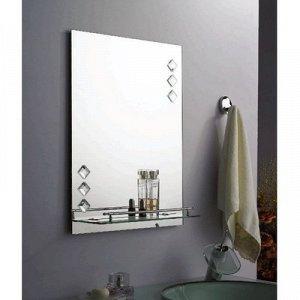 Зеркало в ванную комнату 60?45 см Ассоona A616, 1 полка