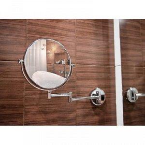 """Зеркало увеличительное Accoona А223-8, 8"""", настенное"""