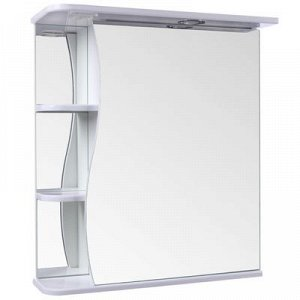 "Зеркало-шкаф ""Тура"", с тремя полками, 60 х 23,4 х 70 см, со светильником"