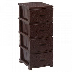 Комод 4-x секционный «Декор. Ажур», цвет коричневый