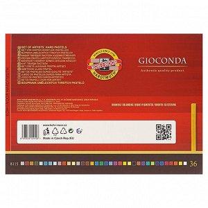 Пастель сухая художественная 36 цветов, Hard Koh-I-Noor GIOCONDA 8115