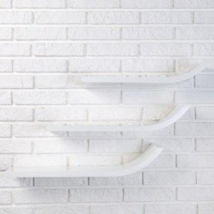 """Набор настенных полок """"Лыжи"""" белые, 60*15см, толщина 3см"""