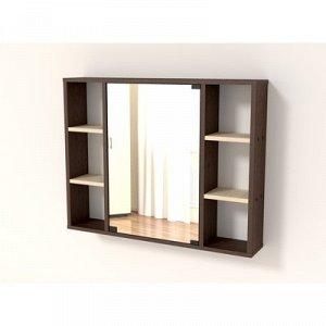 Полка с зеркалом-86 860х150х676 Венге/дуб млечный