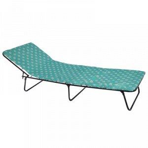 Кровать раскладная 195х65х26 см, матрас 2 см, МИКС