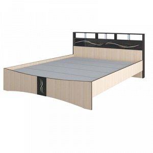 Кровать Эрика 1670x2170x900 венге/дуб молочный