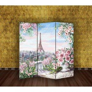"""Ширма """"Картина маслом. Розы и Париж"""", 160 ? 150 см"""