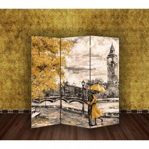 """Ширма """"Картина маслом. Прогулка по Лондону"""", 160 ? 150 см"""