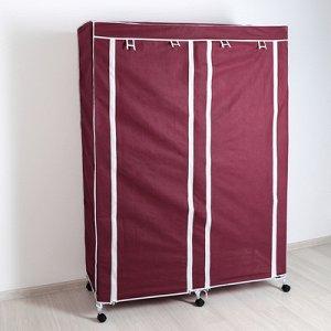 Шкаф для одежды 120?45?165 см, цвет бордовый