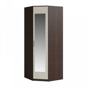 Шкаф угловой с зеркалом Светлана 2200х880х880 Венге/Дуб молочный
