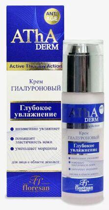 """ФЖ-384 Крем """"AThA DERM"""" ГИАЛУРОНОВЫЙ для лица и декольте /глубокое увлажнение/ 60мл"""