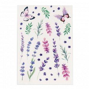 Наклейки?тату Lavender dreams, 14 ? 21 см