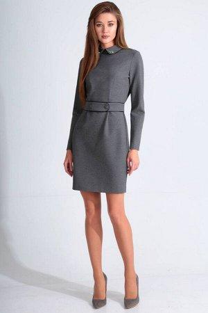 Платье Платье Golden Valley 4629 серое  Состав ткани: Вискоза-26%; ПЭ-70%; Спандекс-4%;  Рост: 170 см.  Платье с втачным воротником с отрезной стойкой, застежкой на потайную молнию в среднем шве спин