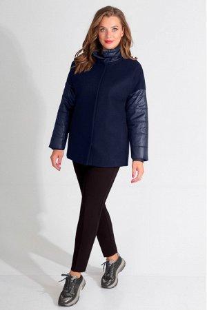 Пальто Пальто Golden Valley 7101 синее  Состав ткани: ПЭ-60%; Шерсть-40%;  Рост: 170 см.  Полупальто утепленное с воротником- стойкой, с центральной застежкой на пришивные потайные кнопки. Перед с на