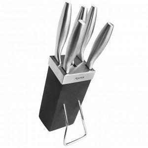 Набор ножей на деревянной подставке 6 предметов AK-2100