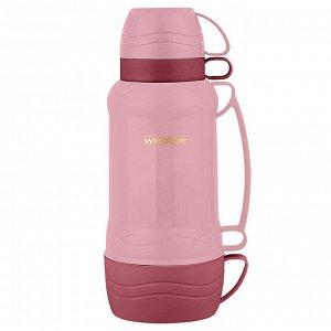 Термос 1,0л Webber 42000/8S розовый с коричневым