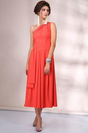Платье Платье Golden Valley 4354 №1  Состав ткани: ПЭ-100%;  Рост: 170 см.  Бальное платье с асимметричным декольте, отрезное по линии талии. Застежкой на потайную молнию в левом боковом шве. Нижняя