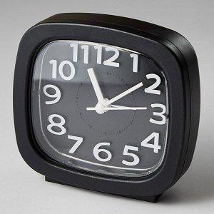 Будильник 8,5x4,6х8,6см DT8-0001 черный