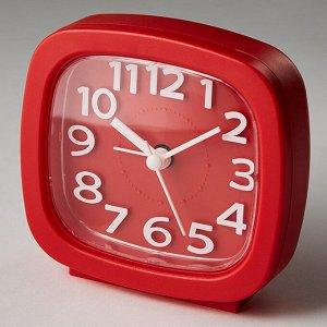 Будильник 8,5x4,6х8,6см DT8-0002 красный