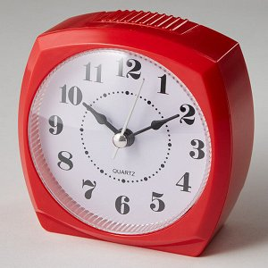 Будильник 8,5x4,6х8,6см DT8-0005 красный