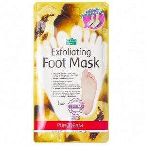 Пилинг-носочки для ступней размером до 27см PUREDERM Exfoliating foot mask regular, 1 пара
