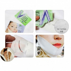 Лифтинг маска карбокситерапия для зоны подбородка PUREDERM Miracle Shaping Face-up Treatment, 5g