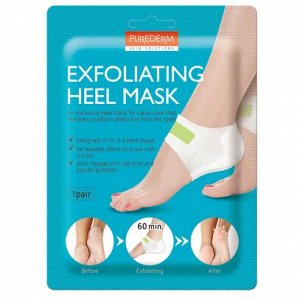 Маска - пилинг для пяточек 1 пара PUREDERM Exfolaiting Heel Mask, 18гр