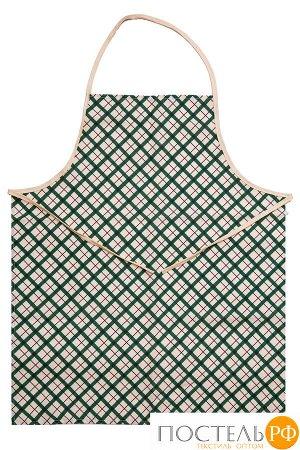 Фартук Мари Санна Клетка (зелен.) 9266-1 Рогожка