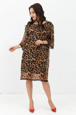 Платье Эксклюзивное (лео) с пояском П981-1
