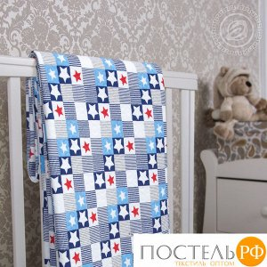 2280 Одеяло-покрывало трикотажное 100*140 Звезды