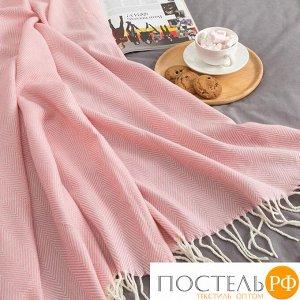 Плед Этель Геометрия 125*150± 5 см, цв. Розовый, акрил, 100% полиэстер   4237851