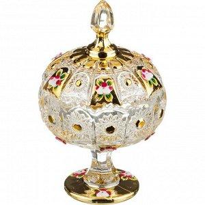 """Конфетница КОНФЕТНИЦА С КРЫШКОЙ """"LEFARD GOLD GLASS"""" ДИАМЕТР=11 СМ. ВЫСОТА=18,5 СМ. (КОР=18ШТ.)  Материал: Стекло Коллекция стеклянной посуды LEFARD GOLD GLASS сочетает в себе универсальность и любимы"""