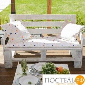 Подушка на 2-местную скамейку Этель «Треугольники», 45 ? 120 см, репс с пропиткой ВМГО, 100%-ный хлопок