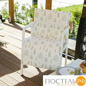 Подушка на уличное кресло «Этель» Листья 50?100+2 см, репс с пропиткой ВМГО, 100% хлопок