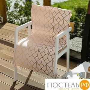 Подушка на уличное кресло Этель «Сетка», 50 ? 100 см + 2 см, репс с пропиткой ВМГО, 100%-ный хлопок