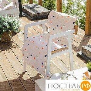 Подушка на уличное кресло «Этель» Треугольники, 50?100+2 см, репс с пропиткой ВМГО, 100% хлопок