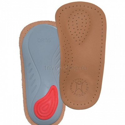 40. Тривес + орт.обувь TWIKI Акция -25%  — Полустельки: Кожаные + гелевые — Ортопедические стельки