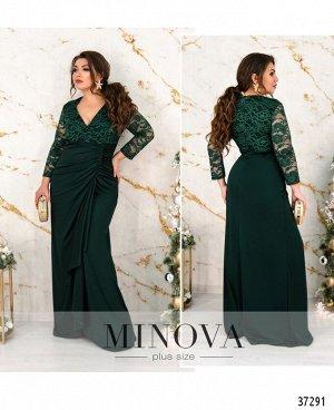 Платье №8-201-темно-зеленый