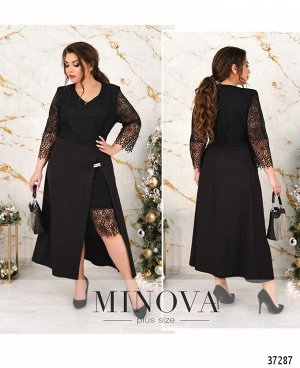 Платье №395-черный