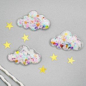 Декор для творчества «Облако» набор 3 шт, размер 1 шт: 0,5?7,5?5 см, цвета МИКС