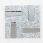 Мозаика стеклянная на клеевой основе № 19, цвет серебряный
