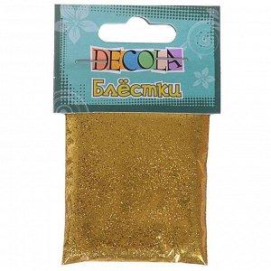 Декор блёстки ЗХК Decola 0.3 мм, 20 г, золото майя