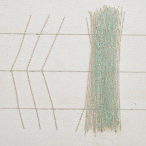 Проволока с ворсом для поделок «Блеск», набор 50 шт, размер 1 шт: 30?0,6 см, цвет перламутр